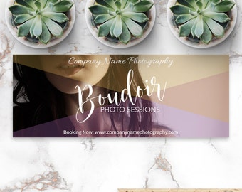 Boudoir Facebook Cover, Photography Facebook Marketing, Social Media Photoshop Template, Instant Download