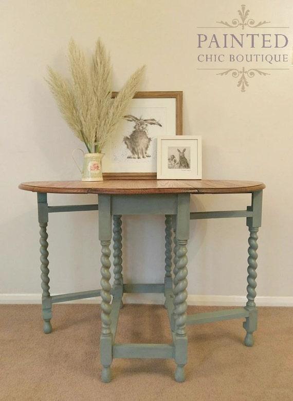 Antique Dining Table Oak Barley Twist Gateleg Oval Victorian