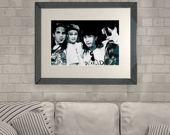 Red Hot Chili Peppers Poster RHCP Wall Art RHCP Wall Decor RHCP Instant Download Canvas Print Music Lover Gift Funk rock band Poster Print