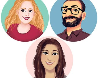Avatar portrait, social media icon, profile picture for a blog, custom portrait, personnalised illustration