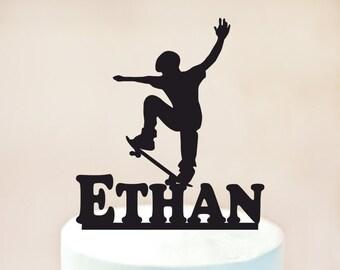 Skateboard Cake topper,skateboarder Cake topper,Skateboard Birthday Party,Birthday Cake topper,Cake topper,Skateboard decoration (1058)