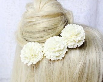 ivory bridal hair pin up hair accessory for bride flower hair pin bridal hair piece ivory hair pin wedding hair pin cute hair pin gifts T2