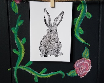 Rabbit A-1 Note Card Set of 6