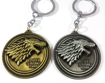 Game of Thrones Keyring, Stark, The winter coming, Got Keyring, Keyrgins, Wolf, Winter Is Coming