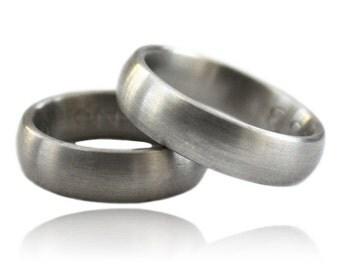 Palladium wedding ring, 585, wide wedding rings, wedding, goldsmith work, gray wedding rings