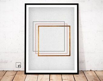 Copper Wall Art, Copper Print, Copper Poster, Copper geometrical art, Copper modern art, copper pattern, Copper decor, Copper modern art