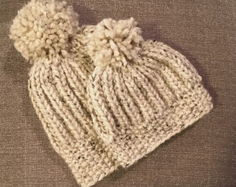 Parent and child matching chunky hat