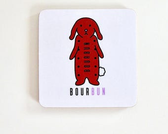 BourBUN Square Coaster