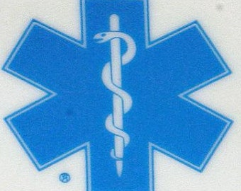 Medical Alert Star of Life Static Cling Window Stickers (4)