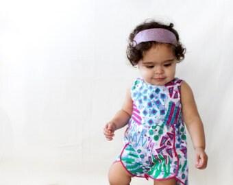 Baby Girl romper.  100% cotton
