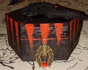 Vampire Bat Gothic Jewellery Box Small