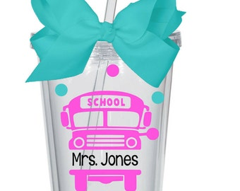 Bus Driver Tumbler ~ Bus driver gift ~ Personalized Tumbler