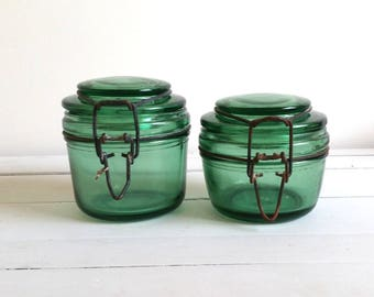 "Old French glass jar ""Solidex"" 350dl/500dl"