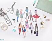 maavie Girl Sticker for Planner Decoration