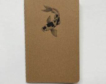 Hand Drawn Koi Notebook