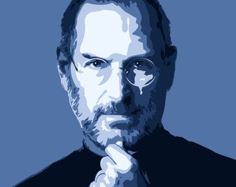 Steve Jobs digital artwork print