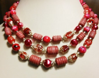 Raspberry Swirl Necklace