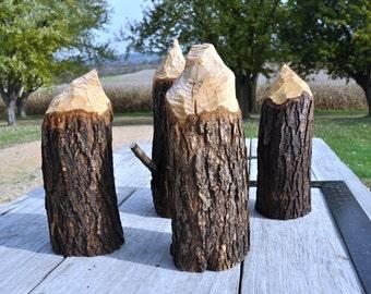 Rustic Beaver Chew Stump, Tree Stump Decor, Ranch Decor, Forest Decor, Forest Wedding, Wooden Stump, Wood Stump,Tree Stump Centerpiece Decor