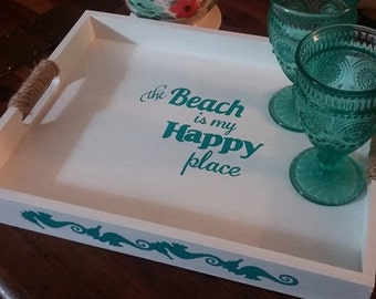 Coastal Beach Serving Tray