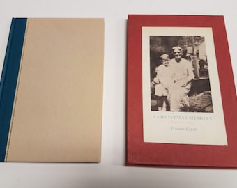 """Vintage Truman Capote  1st First  Edition, """"A Christmas Memory""""  Hardcover book, with original Sleeve/box 1956"""