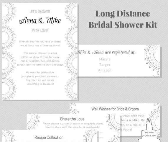 Virtual Bridal Shower Kit Long Distance Wedding