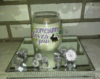 16 oz Decorative stemless soywax candle