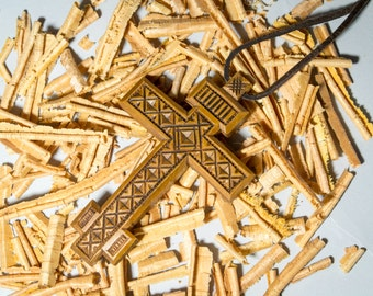 Small Wooden Cross Pendants, Natural Wooden Cross Charms Pendant,Natural Color Wooden Cross, Wooden Crucifix, Crucifix Pendant
