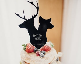 Stag and Doe personalised wedding cake topper