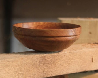 Plum wood bowl