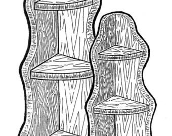Mini Corner Shelves (2) #174 - Woodworking / Craft Pattern
