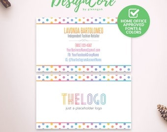 Business Cards, Home Office Approved, Personalized, Printable Card, Polka Dot, Digital Files, Marketing, Branding, Fashion Retailer, DCBC001