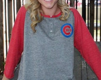 Chi Omega Baseball Henley T-shirt, Chi O T-shirt, Sport T-shirt
