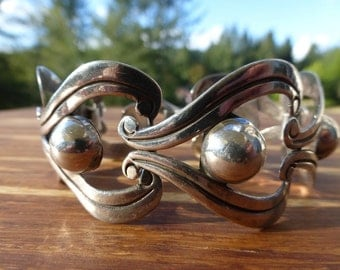 Taxco, Sterling Silver large Link Mexican Bracelet