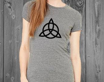 Triquetra Flowy Women's Shirt Trinity Wiccan Symbol Women's Charmed Shirt