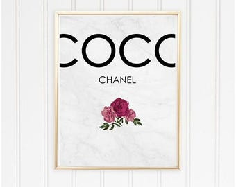 CHANEL Art Print / Fashion Poster / Wall Art Printable
