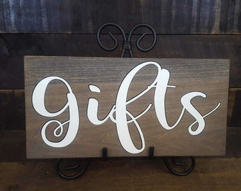 Gifts sign. Gifts sign for wedding. Rustic Gift Table sign. Wedding sign wooden. Wooden Gifts sign. Gifts and Cards sign. Cards and Gifts.
