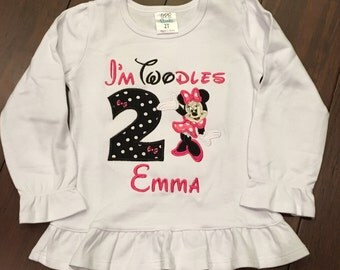 2nd Birthday Minnie Mouse shirt