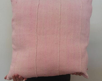Blush Color Mudcloth Pillow Cover