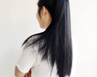 Black Claw-On Hair Extension
