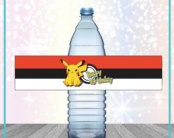 Pokemon Go Water Bottle Wrap Pokemon Birthday Printable