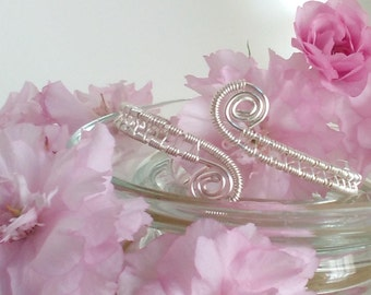 Wire Wrapped Interweave Bangle Bracelet