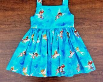 Toddler Girls Dress, Sz 1, Girls Party Dress, Girls Fairy Dress, Girls Dress, Girls Summer Dress, Girls Blue Dress, Trendy Kids Clothes,