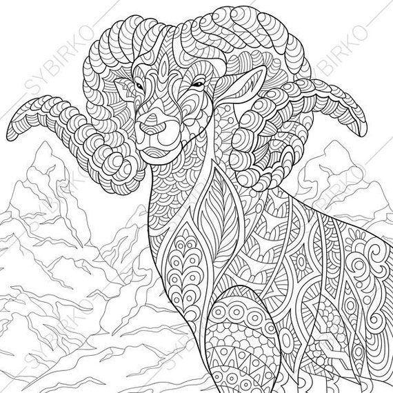 Mountain Goat 2 Coloring Pages