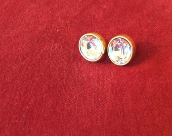 A Pair of Fabulous Vintage Monet Sparkling Stone Earrings from the 1980's