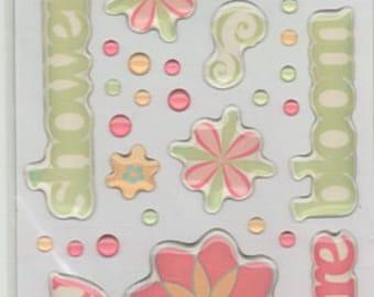 Springtime Scrapbook Stickers Cloud 9 Rain Dots Embellishments Cardmaking Crafts