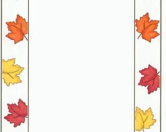 Fall Autumn Leaves Cardstock Frame My Mind's Eye Frame Up's Scrapbook  Embellishments Cardmaking Crafts