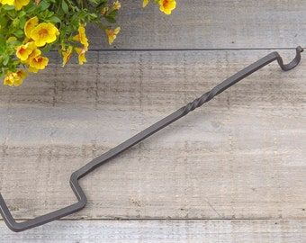 Hand Forged Iron Plant Hanger - 4x4 Post Plant Hanger - Garden Hanger - by The Red Oak Forge on Etsy