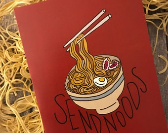 Send noods - ramen greeting card - cheeky card - noodle card