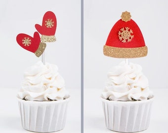 Ugly Christmas Sweater Party Cupcake Toppers