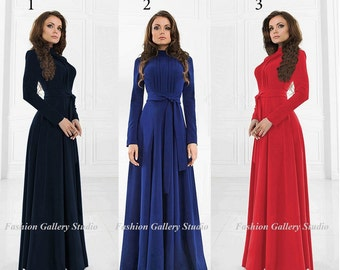 Amazing Maxi dress. Elegant long dress. More Colors. Sizes XXS-L